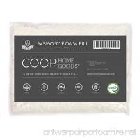Coop Home Goods Adjustable Shredded Memory Foam Pillow Firm Refill - Foam 1/2 LB - B01DOHXMSC