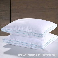 Homelike Moment White Goose Down Pillow Queen Feather Pillows Bed Pillow for Sleeping Standard Queen Size Pillows Set of 2 Gusseted - B074MZB99Z
