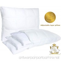 The Duck And Goose Co Adjustable Layer Pillow Luxury Quilted Zipper Pillowcase  Custom Fit your Perfect with 1-year Warranty by Queen Size - B076H36P66