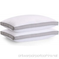 Utopia Bedding Gusseted Pillows  Standard/Queen (18 x 26 inches) Pack of 2 Premium Bed Pillows With Grey Gusset - B071VZKWN1