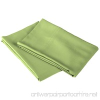 100% Rayon from Bamboo  Extremely Comfortable  Softer Than Cotton  2 Piece King Pillowcase Set  Solid Sage - B01LEJAHXU