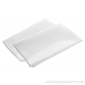 American Pillowcase Pillow Case Set 100% Percale Egyptian Cotton 400 Thread Count Standard Size White 2 Pack - B0756NG5Y3