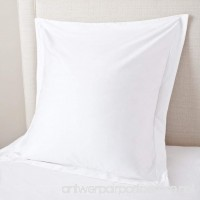 Euro/European Size Super Soft White 400 Thread Count Egyptian Cotton Euro Size 26'' x 26'' Pair Of Pillow Sham Only Sold By Online expert Cases - B01DUEP1M4