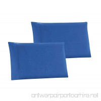 KING size Solid ROYAL BLUE Pillow Cases 1500 Thread Count Egyptian Quality 2 piece set  Silky Soft & Wrinkle Free - B0799QY1T5