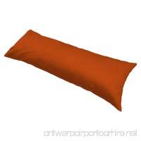 Moonrest - Classic Microsuede Body Pillowcase 20 X 54 (Rust) - B00T386S0G