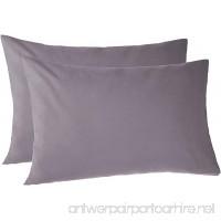 Pinzon 170 Gram Flannel Pillowcases - Standard Graphite - B06XP94KZ3