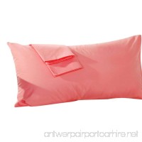 uxcell Body Pillowcase Pillow Cover Egyptian Cotton 250 Thread Count 1-Piece Fits 20 x 48 Inches Coral Color - B073VB4WFP
