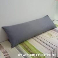 YAROO Envelope Body Pillowcase 100% Cotton 250 Thread Count 1 Piece Fits 21 x 54 Body Pillow Dark Gray. - B07449GKZ3