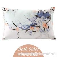 ZIMASILK 100% Mulberry Silk Pillowcase for Hair and Skin Health with Hidden Zipper Both Side Silk Floral Print 1pc (Queen 20''x30'' pattern7) Gift Packed - B01M2WG4LK
