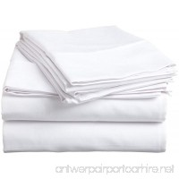 1-Piece Flat Sheet/ Top Sheet King Size White Solid -400 Thread Count 100% Egyptian Cotton for Maximum Comfort Made by American Linen. - B016RA0E4S