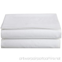 Cathay Home Hospitality Luxury Soft Flat Sheet of 100-Percent Microfiber Construction  King Size  White Color - B008EHUQ78