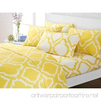 Chic Home 6 Piece Rosamie Medallion Ikat contrast color printed super soft brushed 500 thread count microfiber Queen Sheet Set Yellow - B074VFL2QM