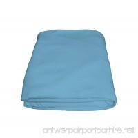 Crescent Comfy 100% Cotton Flat Hospital light blue Bed Sheets - B01EG7FQSS