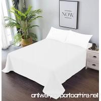 Goza Bedding Microfiber Flat Sheet (White  King) - B07B9TT6T2
