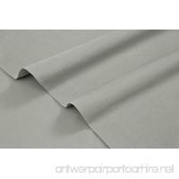 HighCaliber Beddings 800 Thread Count 100% Egyptian Cotton Ultra Soft 1 Piece Flat Sheet (Top Sheet) Queen Size Light Grey Color - B077WR5WG6