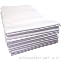 Linteum Textile Supply SPA & MASSAGE TWIN FLAT SHEETS 250 Thread Count 66x108 in. 12-Pack White - B01LZUKMND