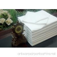 Lot 12 Flat Sheet White T-250 Percale Hotel Linen (Available in Bulk/Dozens) (Queen) Union Hospitality Sheets Wholesale - B00IZBEG56
