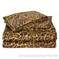 Rajlinen Luxury Egyptian Cotton 500-Thread-Count Sateen Finish One Flat Sheet King Size Leopard Print - B015A3WDJM