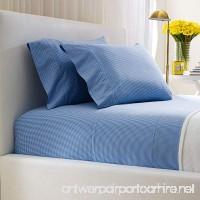 Ralph Lauren Classic Gingham 464 TC Queen Flat Sheet - French Blue - B01FD8AZLC