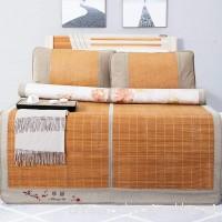 Summer sleeping mat Bamboo mat Double-sided folding Ultra soft cool bedding Queen Mattress-A 150x195cm(59x77inch) - B07CYTWCTM