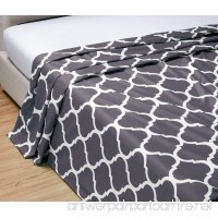 TWIN size  DARK GREY Quatrefoil Moroccan Lattice Flat Bed Sheet -Super Silky Soft -SALE -High Thread Count Brushed Microfiber -1500 Premium Series-Wrinkle  Fade  Stain Resistant  Deep Pockets - B07BY3LH5H