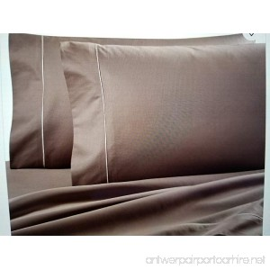 Ultra SOFT Sateen Pima Cotton 725 thread count flat sheet (Queen Toupe) - B0786WFB38