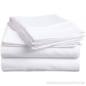 VEGAS HOTEL COLLECTION - Top Selling ( 1-PC ) Flat Sheet Only - Fabulous White Color 100% Egyptian Cotton 600 Thread Count  Solid : Pattern  Flat Sheet Perfect Fit King Size - B072386L7D