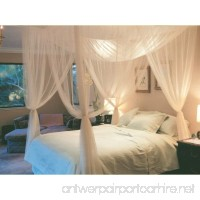 4 Corner Post Bed Canopy Mosquito Net Full Queen King Size Netting Bedding White - B0119GWJLG