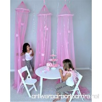 Butterfly Craze 3 pcs Girls Light Pink Princess Play Tent and Bed Canopy Set - B01IFUVEII