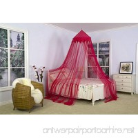 [Dreamma] Red Wine Color Bed Canopy Mosquito Net - B0073CR498