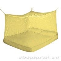 Fine Mesh 100% Polyester Mosquito Net for Beds. Chemicals Free Protection. Size (Queen Color Yellow) - B07B6R8XB1