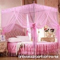 Floralby Lace Mosquito Net for Double Bed Canopy Netting Curtains for Twin Full Queen King Bed - B0791FK1HL