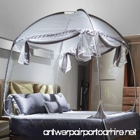 Mengersi Bed Canopy Mosquito Net Tent With Canopy Frame For Boys Kids (Twin Extra Long Gray) - B07FNH3SWG