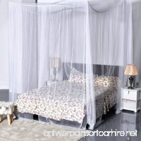 Nova Microdermabrasion 4 Corner Post Mesh Bed Canopy Mosquito Net Full Queen King Size Bed Netting Bedding White - B07422FW4D