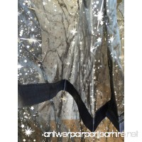 O'fit Deluxe Organza Sparkle Tastic Princess Bed Canopy (60x250x1000cm) (Black) - B073FY579J