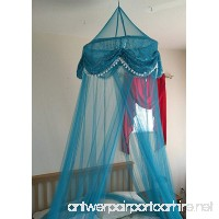 OctoRose ® Sequins Bed Canopy Mosquito Net for All Size Bed  Dressing Room  Out Door Events (Teal Blue) - B00VJ0BSZ6