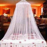 Ouken Elegant Lace Bed Canopy Mosquito Net White by - B07F8RV69P