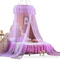 Princess Mosquito Net Netting Bedroom Ceiling Dome Hanging Round Lace Bed Canopy for Crib Twin Full Queen Bed (Purple) - B07C3L3B3X