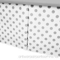 American Baby Company 100% Cotton Tailored Crib Skirt with Pleat  White with Gray Dot - B00EC6JNPQ