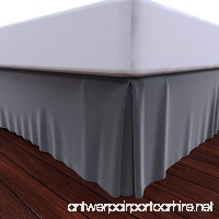 Bed Skirt by Royal - 100% Cotton Pleated Bed Skirt (Queen  Grey) - B017LMR5S4