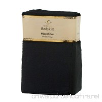 Clara Clark Supreme 1500 Collection Solid Bed Skirt Dust Ruffle  Queen Size  Black - B00J31ZF6Q