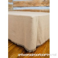 Deluxe Burlap Natural Tan Queen Bed Skirt - B017L7A0T0