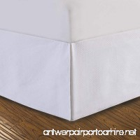 "DreamSpace Quilted Bed Skirt Dust Ruffle Diamond Pattern Matelasse Tailored 14"" Drop Queen  White - B011Y4MS3W"