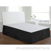 Fascination Bed Skirt-Durable & Stiff Velvet-Bed Valance-15 inch Drop-No Pins Required-Box Pleat (Black Queen-60 x 80) - B07D3WYMMB