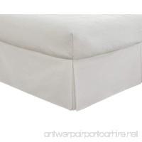 Fresh Ideas Tailored Poplin Bedskirt 14-Inch Drop Queen  White - B002X79XO2
