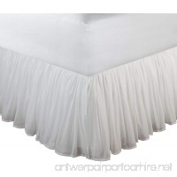 Greenland Home Fashions Cotton Voile Bed Skirt 15-Inch White Full - B007M8Z1FC