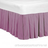 Home Soft Things Serenta 14 Drop Microfiber Dust Ruffle Bed Skirt Queen Purple Solid - B0163KVMQG
