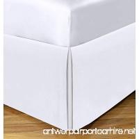 King Size Split Corner Bed Skirt 18'' Inch Drop - 100% Egyptian Cotton Luxurious & Hypoallergenic Easy to Wash Wrinkle  (White  King Size Bed Skirt with 18 inch drop) - B07D3ZNSJM