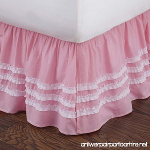 Levtex home Ruched Bed Skirt Twin Pink - B00L2MCZ30