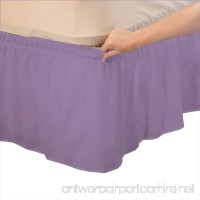 Relaxare Short King 400TC 100% Egyptian Cotton Lilac Solid 1PCs Wrap Around Bedskirt Solid (Drop Length: 15 inches) - Ultra Soft Breathable Premium Fabric - B01N9BMC1K